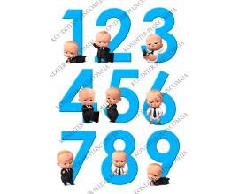 вафельная картинка цифры 7