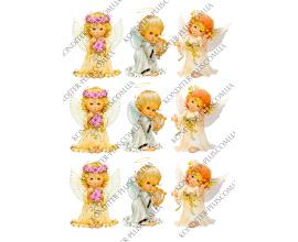 вафельная картинка ангелы 3 шт
