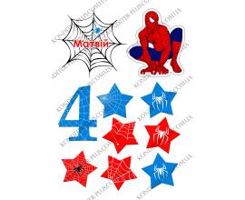 вафельная картинка человек паук и паутина 2