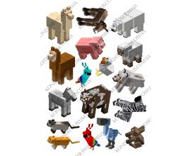 вафельная картинка майнкрафт животные