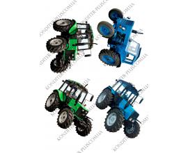 вафельная картинка 4 трактора