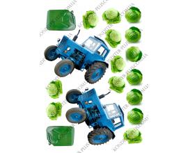 вафельная картинка 2 трактора и капуста