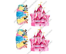 вафельная картинка замок для принцесс 11 см