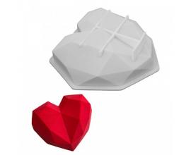 форма для евро-десертов сердце оригами, 850 мл