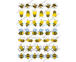 вафельная картинка маленькие пчелки