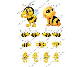 вафельная картинка пчелки 10 см