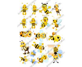 вафельная картинка пчелки №3