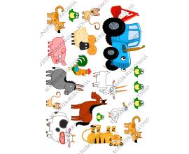вафельная картинка трактор №6