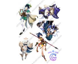 вафельная картинка игра genshin impact №1