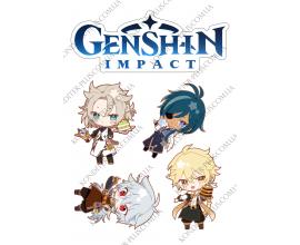 вафельная картинка игра genshin impact №2