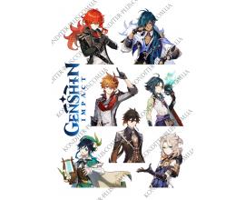 вафельная картинка игра genshin impact №8 (8 см)