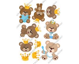 вафельная картинка мишки-мальчики 9 см
