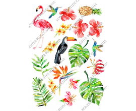 вафельная картинка фламинго 2