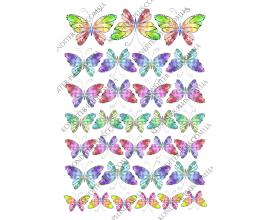 вафельная картинка бабочки 32