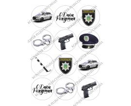 вафельная картинка полиция 4