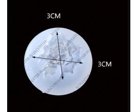 молд силиконовый пион, 3 см