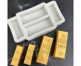 Молд слитки золота 4.7*1.7см и 3.1*1см