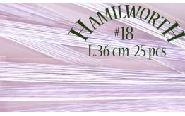 Проволока белая Hamilworth №18, 25 шт