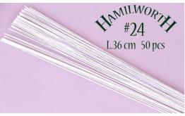 Проволока белая Hamilworth №24, 50 шт