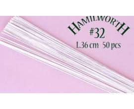 Проволока белая Hamilworth №32