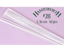Проволока белая Hamilworth №28